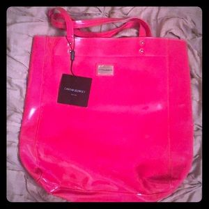 Cynthia rowley patent leather pink bag